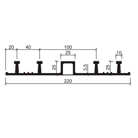 Гидрошпонка-ДО-22025-425-(Резина-EPDM)
