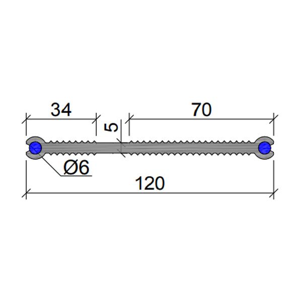 Гидрошпонка-ХВН-120-2хØ6-(ПВХ)