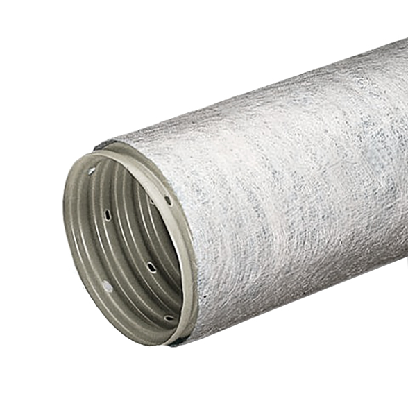 Drainage pipe PVC perforated with geotextile Typar SN4